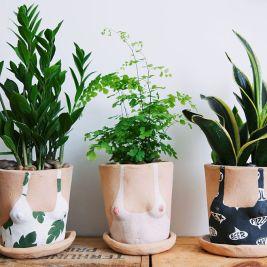 Lady plant pots